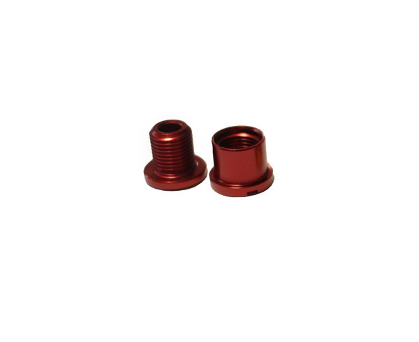 7mm Venzo Allu Red Chainring Bolt & Nut / Болт и Гайка за Плоча