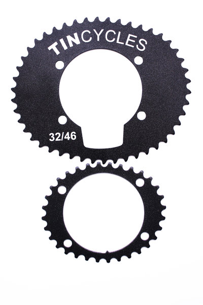 32-46t Oval Chainring TIN CYCLES  Set 2x9sp / Плочи 2x9 скорости