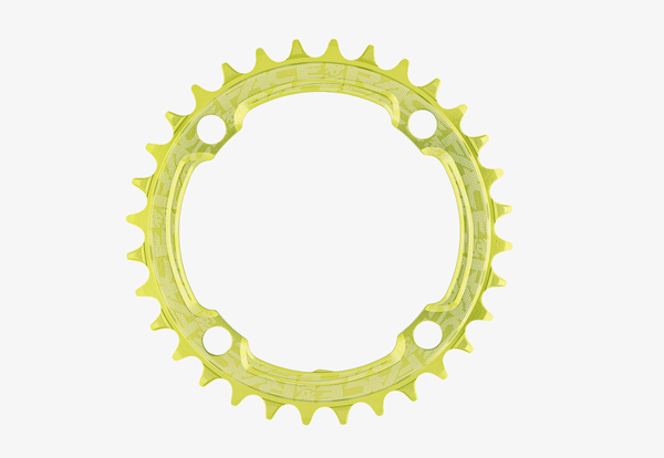 32t Round Narrow Wide 1x Green Reinforced Chainring / Кръгла Алуминиева Плоча 32 зъба