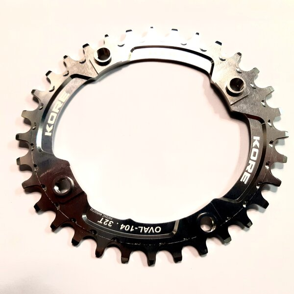 32t Stronghold Oval Narrow Wide Silver Chainring / Овална Алуминиева Плоча 32 зъба