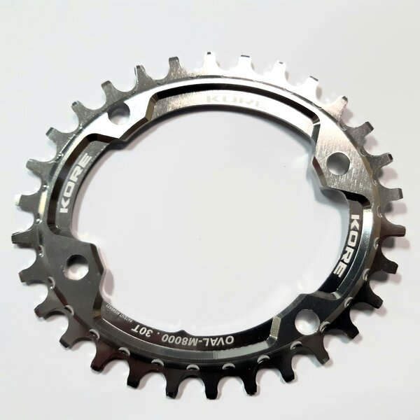 30t Stronghold Oval Narrow Wide Silver Chainring Shimano / Овална Алуминиева Плоча 30 зъба