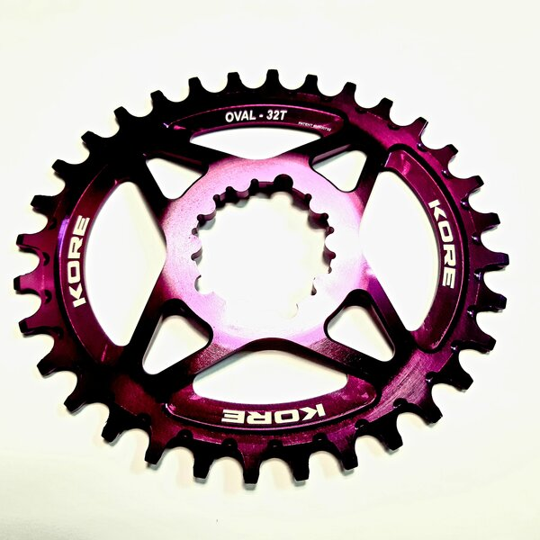 32t Stronghold Oval Narrow Wide XD Purple Chainring / Овална Алуминиева Плоча Директен Монтаж