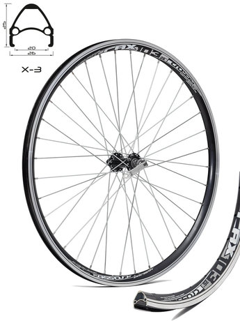 26 Joytech - Crosser V-brake 9mm Front Wheel / Предна Капла QR