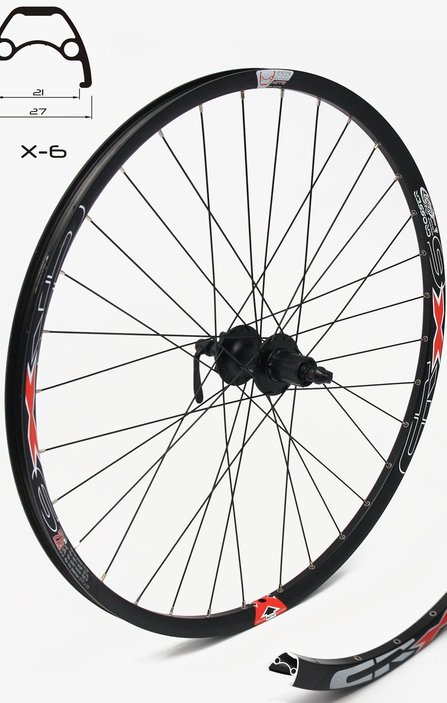 27,5 SHIMANO/Crosser Disc 9mm Rear Wheel / Задна Капла