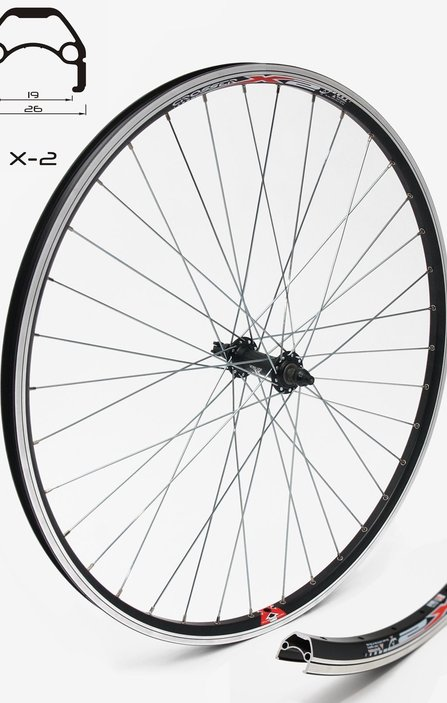 28 Joytech - Crosser V-brake 9mm Front Wheel / Предна Капла QR
