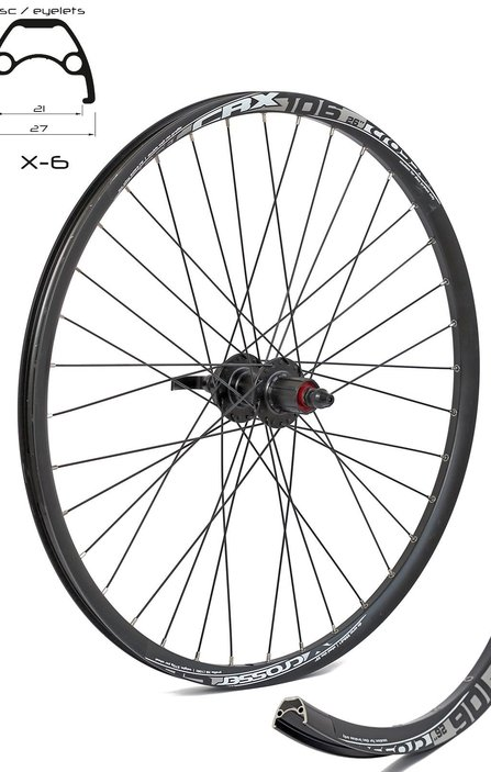 26 Joytech/Crosser Disc 9mm Rear Wheel / Задна Капла