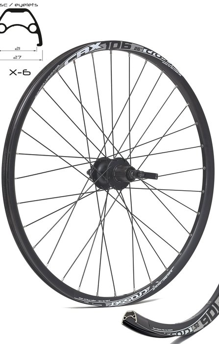 26 SHIMANO/Crosser Disc 9mm Rear Wheel / Задна Капла