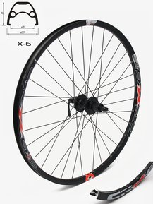 27,5 Shimano - Crosser Disc 9mm Rear Wheel / Задна Капла