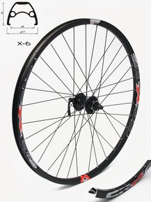 27,5 SHIMANO/Crosser Disc 9mm Front Wheel / Предна Капла 9мм Ос