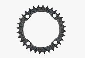 36t Round Narrow Wide 1x Black Reinforced Chainring / Кръгла Алуминиева Плоча 36 зъба