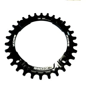 30t Stronghold Narrow Wide Black Chainring / Кръгла Алуминиева Плоча 30 зъба