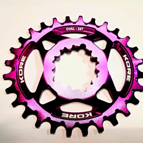 28t Stronghold Oval Narrow Wide XD Purple Chainring / Овална Алуминиева Плоча Директен Монтаж