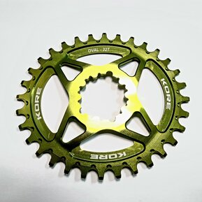 32t Stronghold Oval Narrow Wide XD Green Chainring / Овална Алуминиева Плоча Директен Монтаж