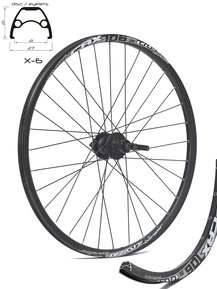 26 SHIMANO - Crosser Disc 9mm Rear Wheel / Задна Капла Диск