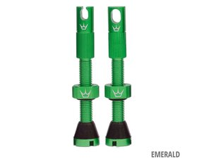 42mm Chris King MK2 Emerald Pair Tubeless Insert Compatible Valves / Комплект Безкамерни Вентили